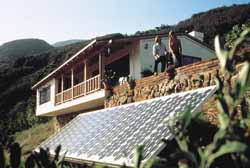 solar panel in yard